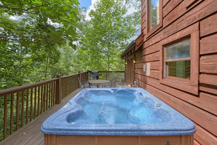 2 Bedroom Cabin with Private Hot Tub on deck - A Woodland Hideaway