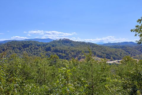 Mountain View from deck of 3 bedroom Cabin - Above the Rest
