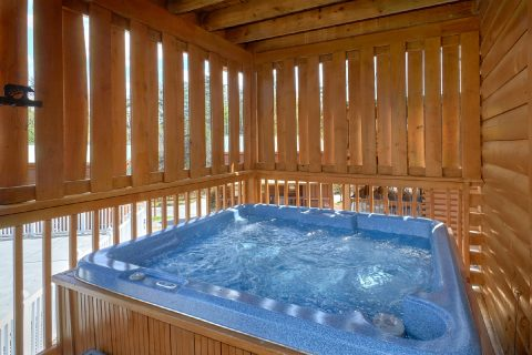 Private hot tub at 2 bedroom cabin - Absolute Delight