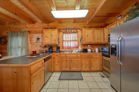 Fully Furnished kitchen in 2 bedroom cabin - Absolute Delight