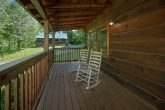 2 bedroom cabin with rocking chairs on porch