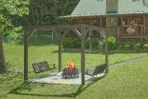 Fire Pit with swings at premium 2 bedroom cabin