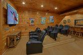 Theater Room in 4 bedroom luxury cabin