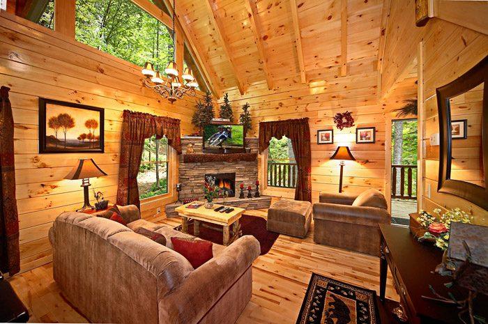Gatlinburg Cabin with Living Room - Adler's Ridge