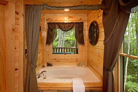 Relaxing Jacuzzi in your Gatlinburg Cabin - Adler's Ridge