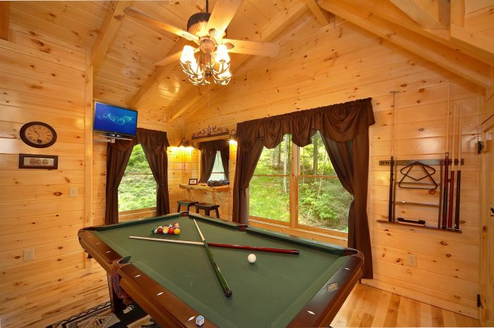 Game Room in Loft of Cabin - Adler's Ridge
