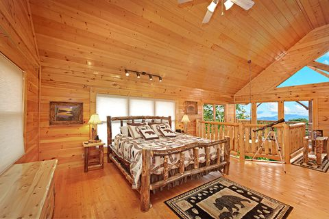 King Sized Bed with View - Adventure Lodge