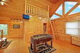 Cabin with Foose Ball Table In King Bedroom
