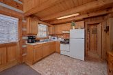 Full kitchen in 1 bedroom cabin
