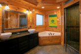 Luxurious Bathroom with Jacuzzi and Stone Shower