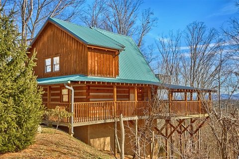 Luxury 2 Bedroom Cabin with VIews of the Smokies - Altitude Adjustment