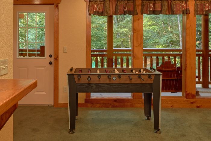 Game Room with Foos Ball and Pool Table - Amazing Grace