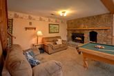 Cabin with Game Room and 2 Fireplaces