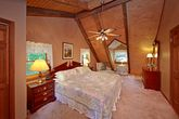 Cabin with King Sized Bed in Master Bedroom