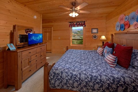 2 Bedroom cabin with King bed and TV - American Pie