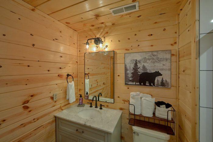 Cabin Resort Pool and Lounge Area - Angel's Ridge