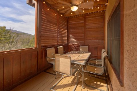 Covered Decks with Table and Chairs - Arrowhead View Lodge