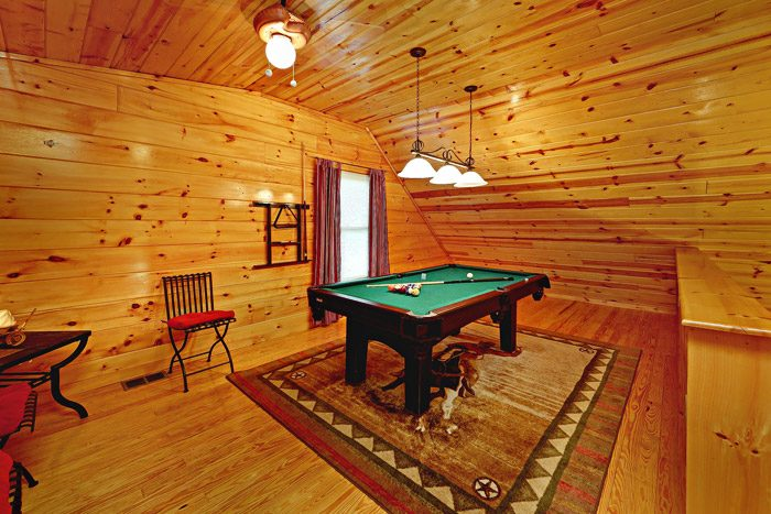 Cabin with Lofted Game Room - At Trails End
