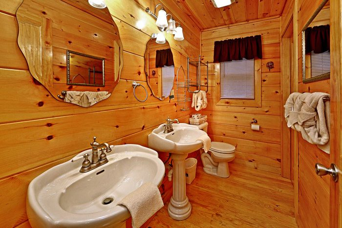 Cabin with His and Her Sinks - At Trails End