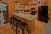 Fully stocked kitchen in cabin rental