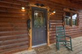 2 bedroom cabin with hand carved decorations