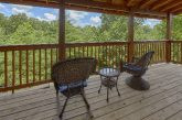 Pigeon Forge Resort cabin with wooded view