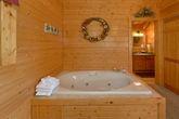 Jacuzzi Tub in Cabin King Bedroom