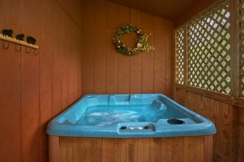 Rustic 2 Bedroom Cabin with Private Hot Tub - B & D Hideaway
