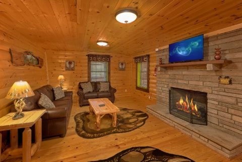 Spacious 5 Bedroom Cabin with Gas Fireplace - Bar Mountain