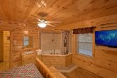 King Bedroom with Large TV and Jacuzzi