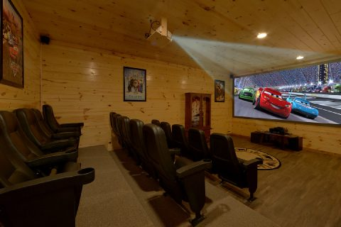 5 Bedroom Cabin with Theater Room Seating 17 - Bar Mountain