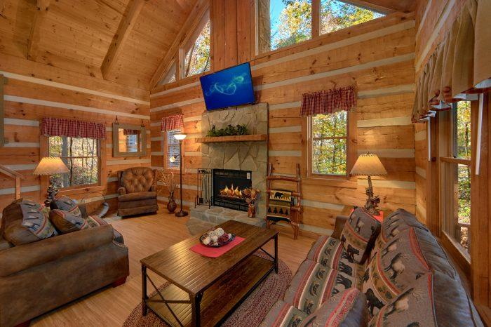 Beautiful 1 Bedroom Cabin Sleeps 4 - Bare Tubbin