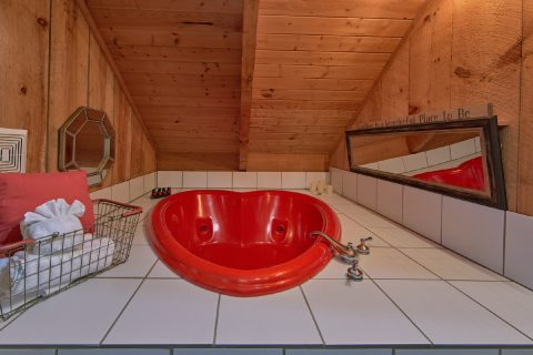 1 Bedroom Cabin with Heart Shape Jacuzzi Tub - Bare Tubbin