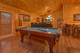 6 bedroom cabin with Pool table and theater area