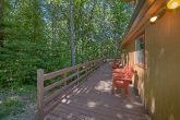 Large Decks with Chairs 2 Bedroom Cabin