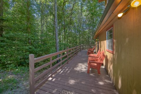 Large Decks with Chairs 2 Bedroom Cabin - Bear Creek Hollow