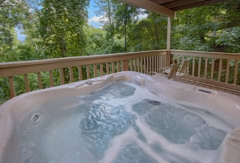 Hot Tub with Views On Back Deck Gatlinburg - Bear Crossing