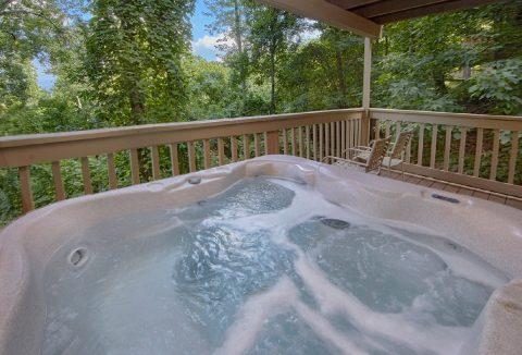 Hot Tub with Views On Back Deck Gatlinburg - Bear Crossing
