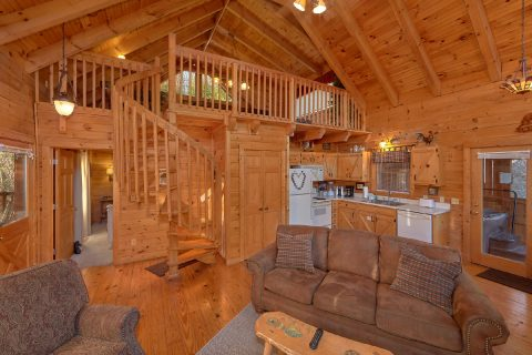 Open Floor Plan 1 Bedroom Cabin - Bear Hugs II