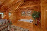 Private Jacuzzi Tub in Cabin Master Bedroom