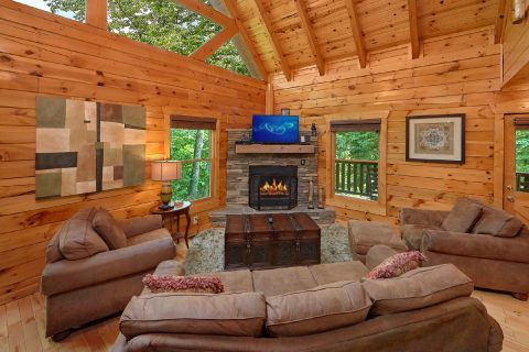 3 Bedroom Cabin with a fireplace - Bear Pause Cabin