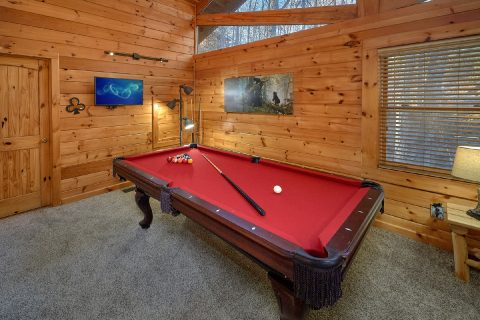 2 bedroom Gatlinburg Cabin with pool table - Bear Paw Bridge