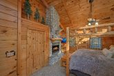 Master Bedroom in cabin with private fireplace