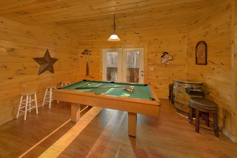 Pool Table in Den - Bear Play