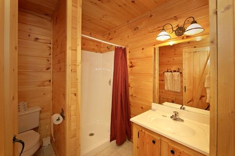 Premium 1 Bedroom Cabin with a Walk-in Shower - Bear Tracks