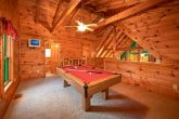 Honeymoon Cabin Furnished with a Pool Table