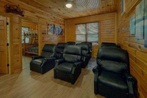 Theater Room 12 Bedroom Cabin Sleeps 47 - Bearadise Lodge