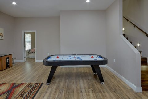 Game Room with Air Hockey and Arcade Game - Bearfoot Bungalow
