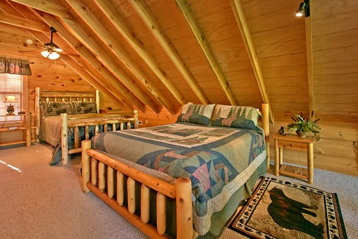 Smoky Mountain Cabin with two Full Beds in Loft - Bear-rif-ic