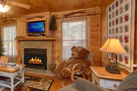 Spacious 2 Bedroom Cabin with Living Room - Bear's Lair